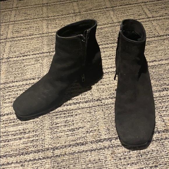 Black Suede Booties 2 Inch Heel | Poshmark